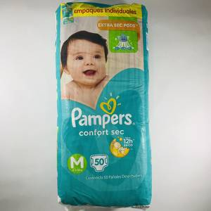 Pañal Pampers Confort Sec M x50