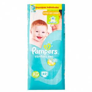 Pañal Pampers Confort Sec XG x42