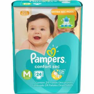 Pañal Pampers Confort Sec Mediano x 24