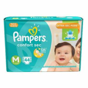 Pañal Pampers Confort Sec Mediano x 44