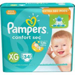 Pañal Pampers Confort Sec XG x 34