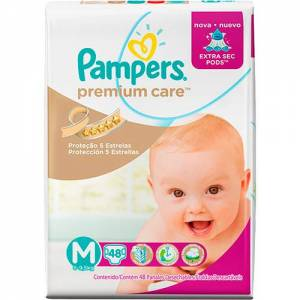 Pañal Pampers Premium Care Med x 48