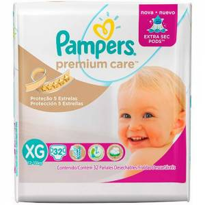 Pañal Pampers Premium Care XG x 32
