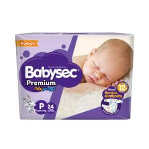 Pañal Babysec Premium P x 24