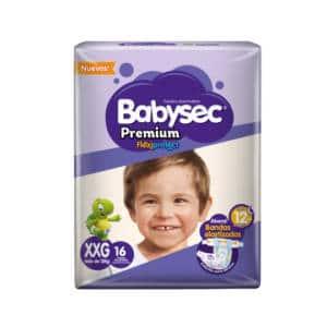 Pañal Babysec Premium Flexip XXG x 16