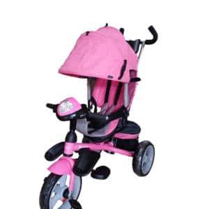 Triciclo con Asiento Giratorio Maks Rosado