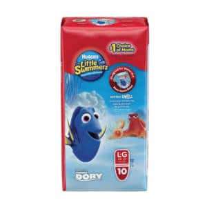 Pañal Huggies Little Swimmers Grande x 10