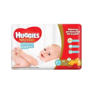 Pañal Huggies Natural Care (Rojo) Peq X 30