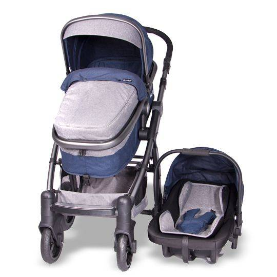 Coche Cuna Tainy Deluxe Azul Ebaby