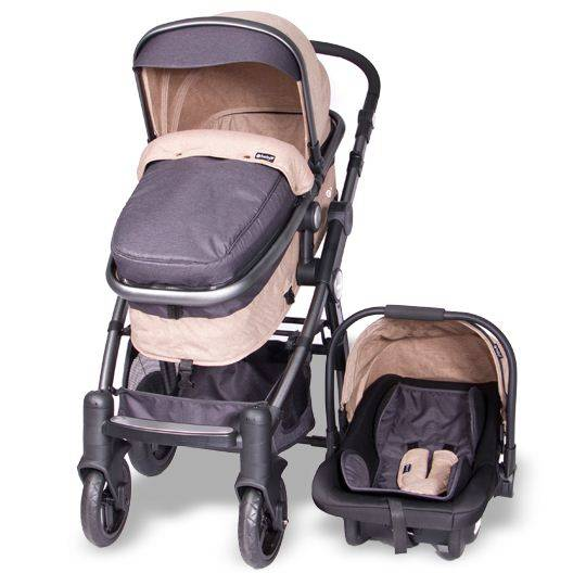 Coche Cuna Tainy Deluxe Beige Ebaby