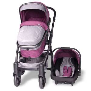 Coche Cuna Tainy Deluxe Rosado Ebaby