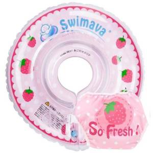 Kit Aro Flotador Swimava para cuello Berry