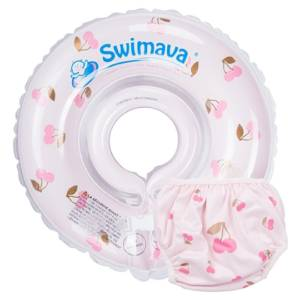 Kit Aro Flotador Swimava para cuello Cherry