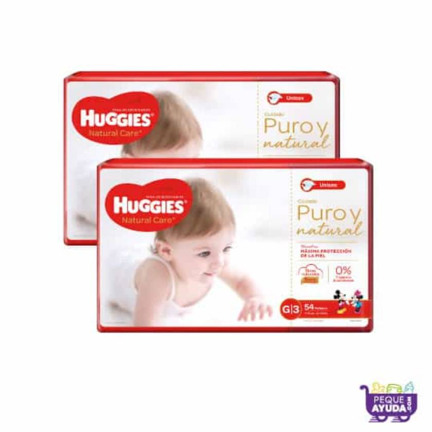 Pañal Huggies Natural Care Unisex G x 108 Promo