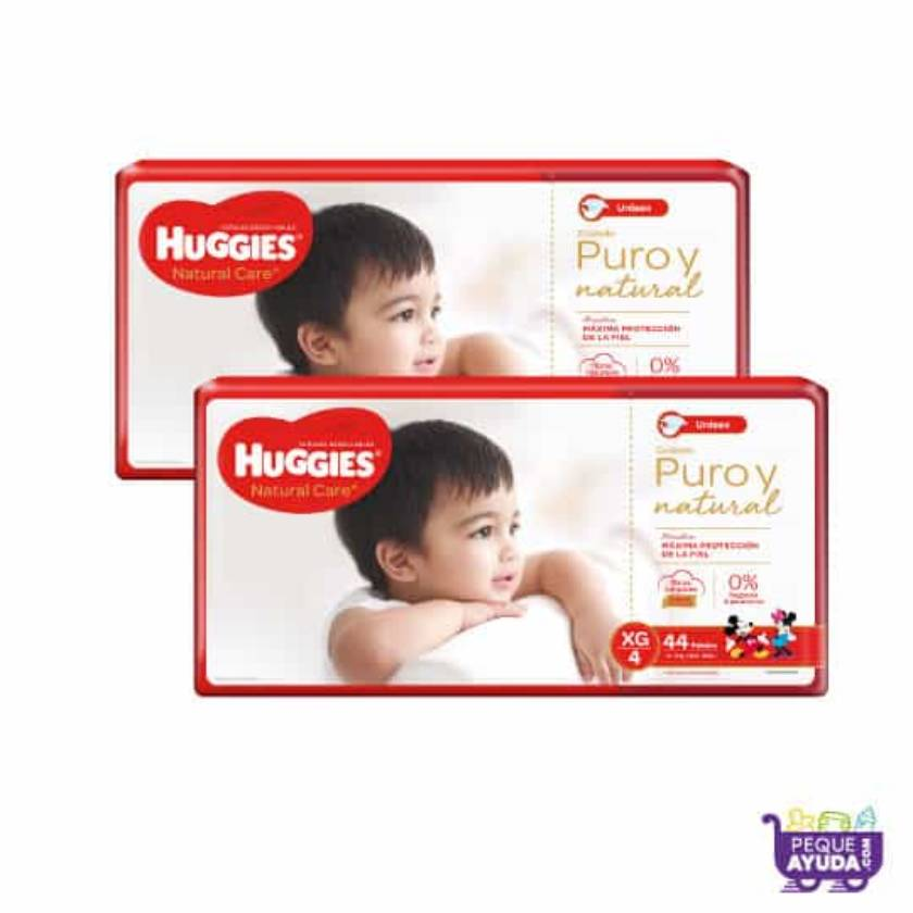 Pañal Huggies Natural Care Unisex XG x 88 Promo
