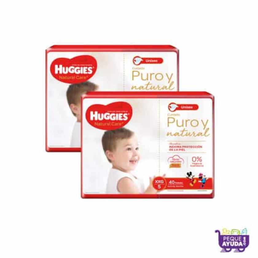 Pañal Huggies Natural Care Unisex XXG x 80 Promo