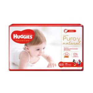 Pañal Huggies Natural Care Unisex Gx36