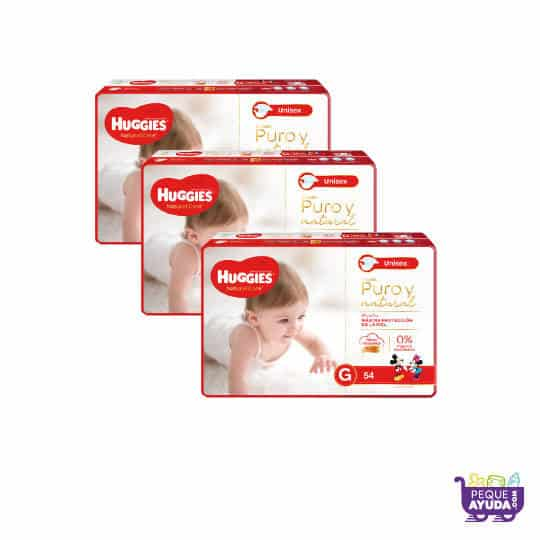 Pañal Huggies Natural Care Unisex G x 162 Promo