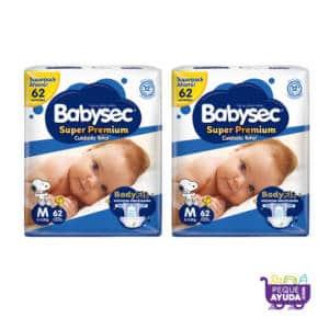 Pañal Babysec Super Premium M x 124
