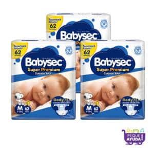 Pañal Babysec Super Premium M x 186