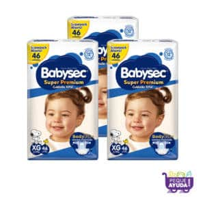 Pañal Babysec Super Premium XG x 138