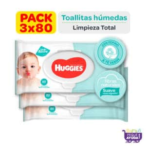 Pañitos Húmedos Huggies One Done x 80 Pague 2 lleve 3 Promo