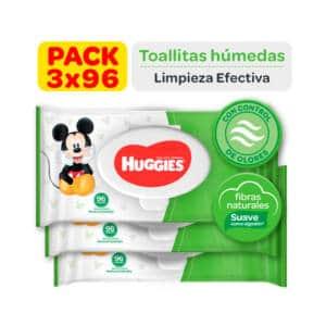 Pañitos Húmedos Huggies Active Fresh x 288 unidades