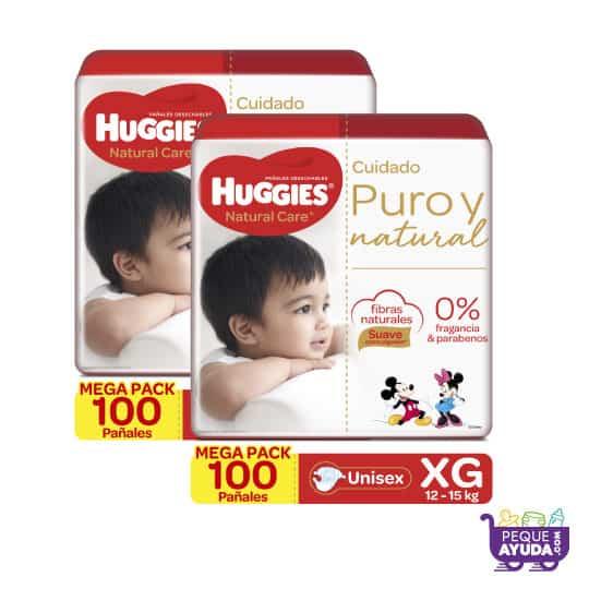 Pañal Huggies Natural Care Unisex XG x 200