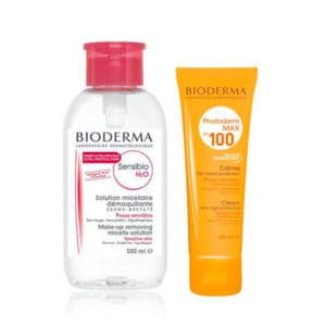 Desmaquillante Bioderma Sensibio H2O 500ml + Photoderm MAX SPF 100 40ml