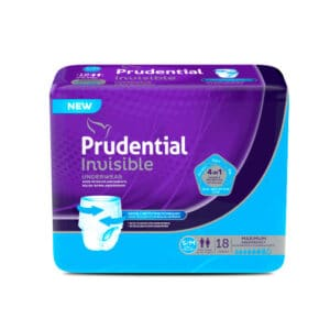 Pañal Prudential Invisible S-M x 18