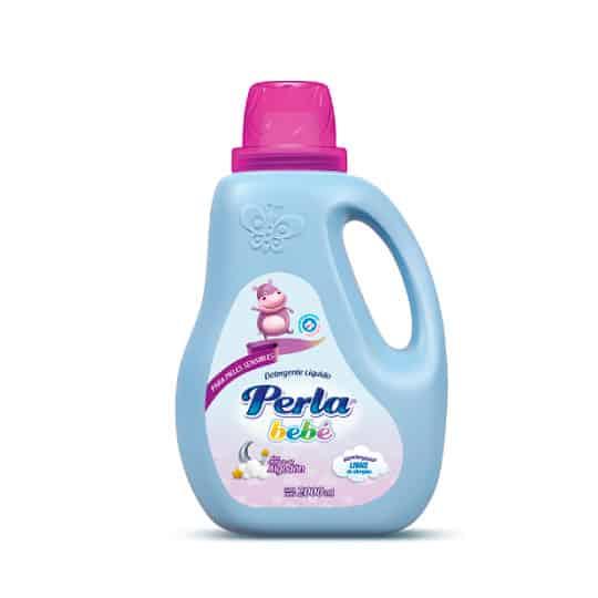 Detergente Perla Bebé Líquido Algodón Frasco x 2 Litros