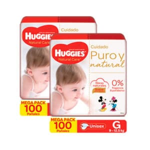 Pañal Huggies Natural Care Unisex G x 200 Promo