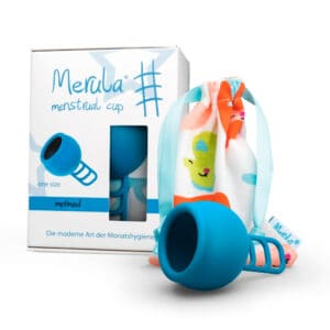 Copa Menstrual One Size Mermaid Azul 38 ml