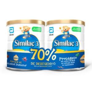 Similac HMO 3 850g + 2da Lata 70% dscto.