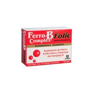 Ferro B Complex Folic Tabletas Recubiertas x 30