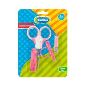 Set Manicure 3 en 1 Carlitos rosa