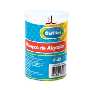 Cotonetes Carlitos Madera 3p Pote x 100
