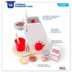 Cafetera de Madera Wilson Toys