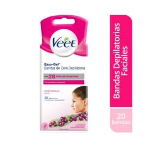 Veet® Bandas de Cera Faciales - 20 bandas depilatorias