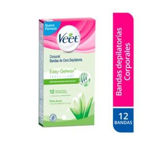 Veet® Bandas de Cera Piel Seca- 12 unidades depilatorias