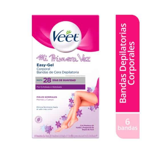 Veet® Bandas de Cera Mi Primera Vez - 6 bandas depilatorias