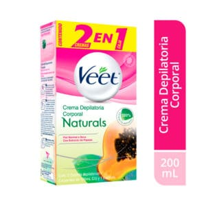 Veet® Crema Depilatoria Corporal con Extracto Papaya - 2 x 100ml