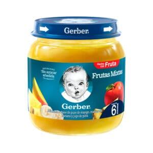 Compota GERBER® Alimento infantil Frutas mixtas Frasco 113g