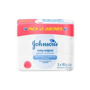 Jabón Johnsons Baby Original Cremoso Tripack 110g c/u