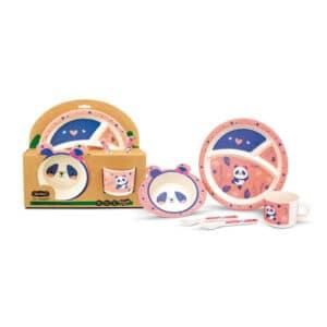 Set de Vajilla Carlitos Bamboo Panda - 5 piezas