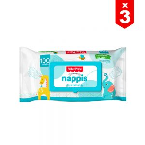 Pañitos Húmedos Nappis Fisher Price x 300