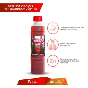 Pedialyte NL Fresa 45 MEQ MAX 500ml