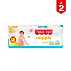 Pañal Nappis Fisher Price XXG x 68