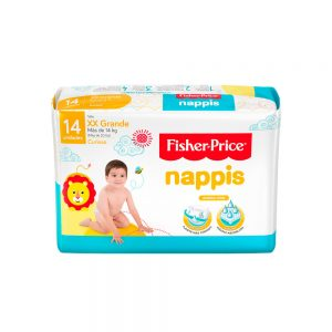 Pañal Nappis Fisher Price XXG x 14