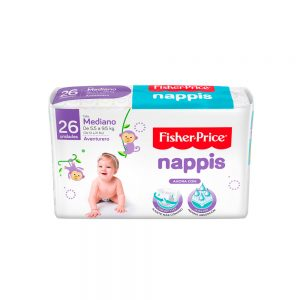 Pañal Nappis Fisher Price M x 26